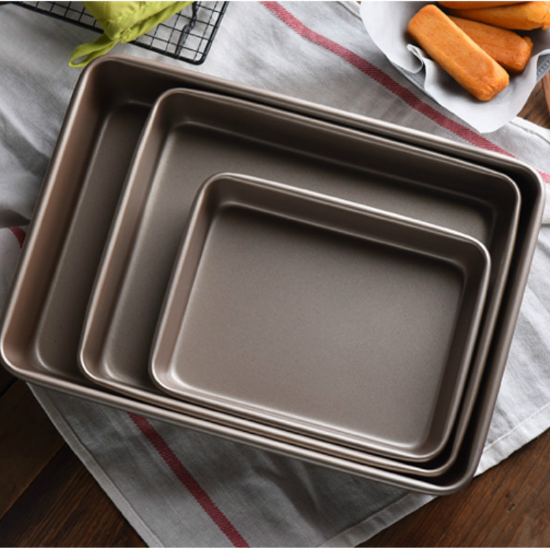 1 thick oven cake baking tray rectangular baking tray cake biscuit pie pizza baking tray non-stick kitchen baking tray