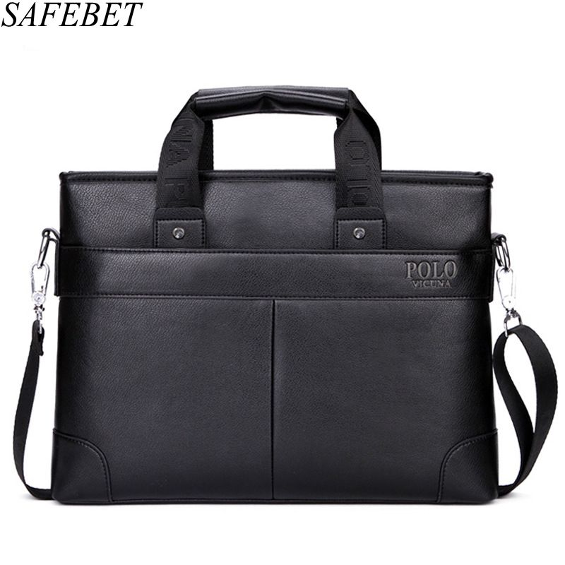 SAFEBET Brand Men Casual Briefcase Business Shoulder Bag Leather Messenger Bags Computer Laptop Handbag Bag Men's Travel Bags 2017 men casual briefcase business shoulder bag leather messenger bags computer laptop handbag bag men s travel bags