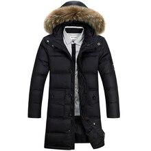 Зимняя Куртка Мужчины 90% Белая Утка Вниз Длинные Куртки Сохранить теплое Пальто Случайные Мужские толстый Пуховик Пальто И Пиджаки куртка XXXL 4XL