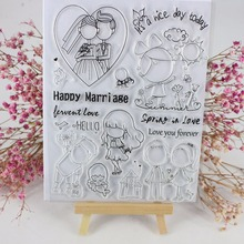 Sp Wedding Metal Cutting S And Clear Rubber Stamp Set With For Card Making Sbooking Decoration