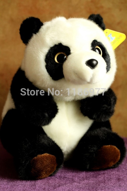 Free shipping Amangs high quality big eyes cute panda plush doll toy birthday gift 40cm super cute plush toy panda doll pets panda panda pillow feather cotton as a gift to the children and friends