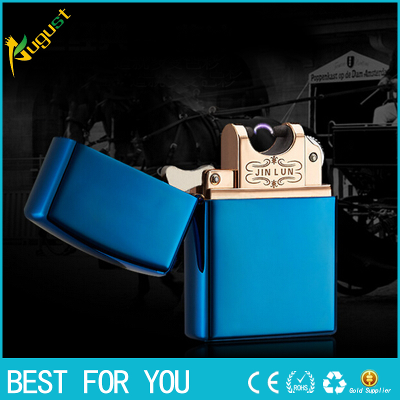 50pcs lot usb lighter butane lighter Arc lighter Lighter Rechargeble Usb Electronic Cigarette Smoking Windproof Lighters