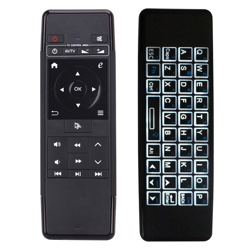 63A Mini Air Mouse Rechargeable English 2.4Ghz Wireless Keyboard Remote Control For Windows Android Ios Tv Box Pc(China)
