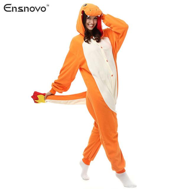 Ensnovo Onesies Capucha Pijamas mujeres ropa de Dormir de Invierno Perezoso Dragón Panda Cráneo esqueleto Humano Cosplay de La Historieta Pijamas