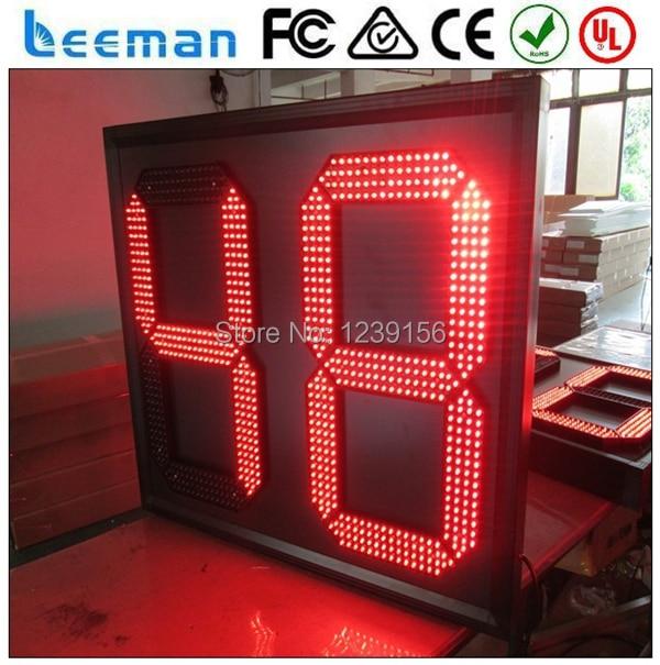 b52f5bc73 Leeman 2 dígitos del Temporizador de Cuenta Regresiva LED Relojes Digitales  LED rojo reloj Temporizador de