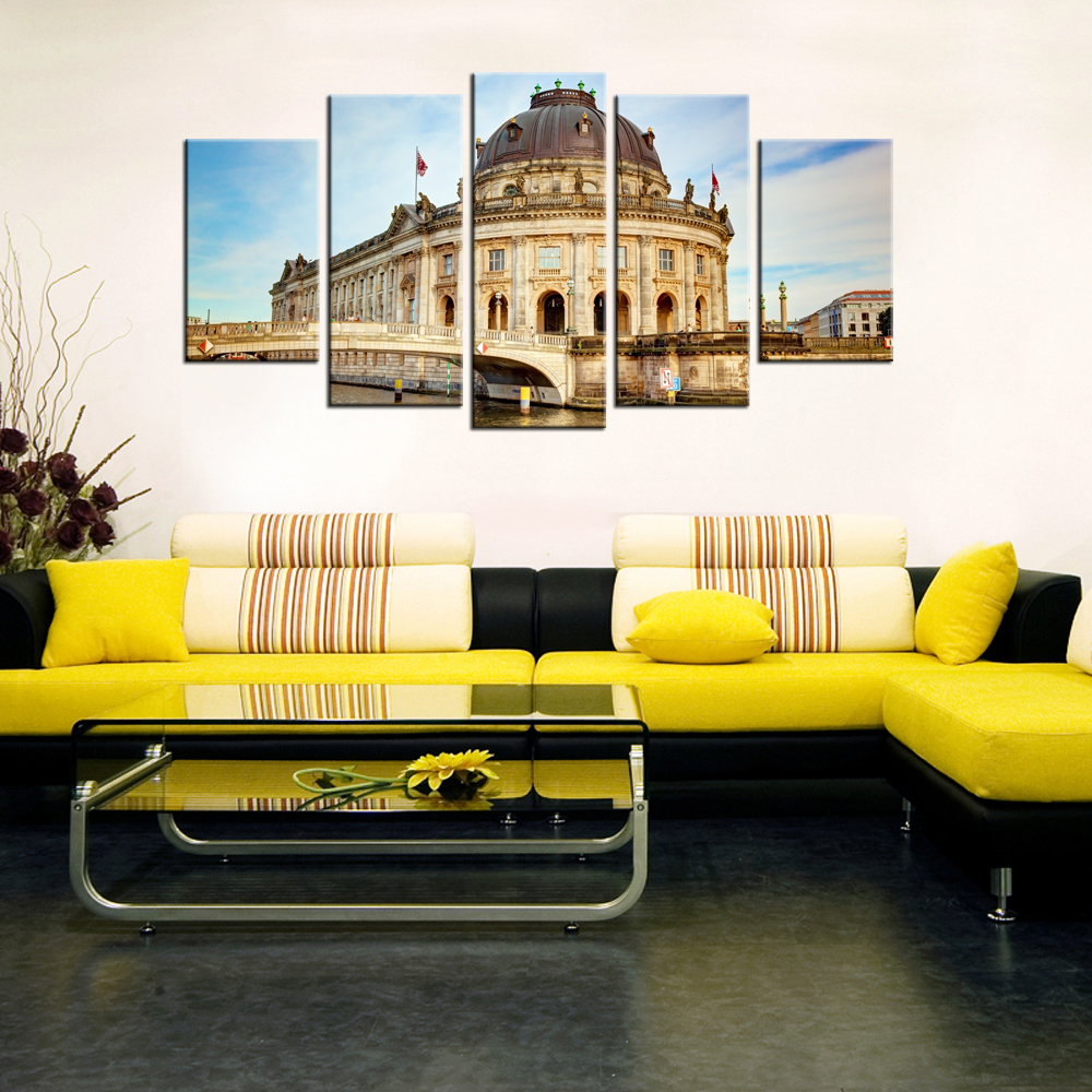 Funky Architectural Pieces Wall Decor Motif - Wall Art Ideas ...