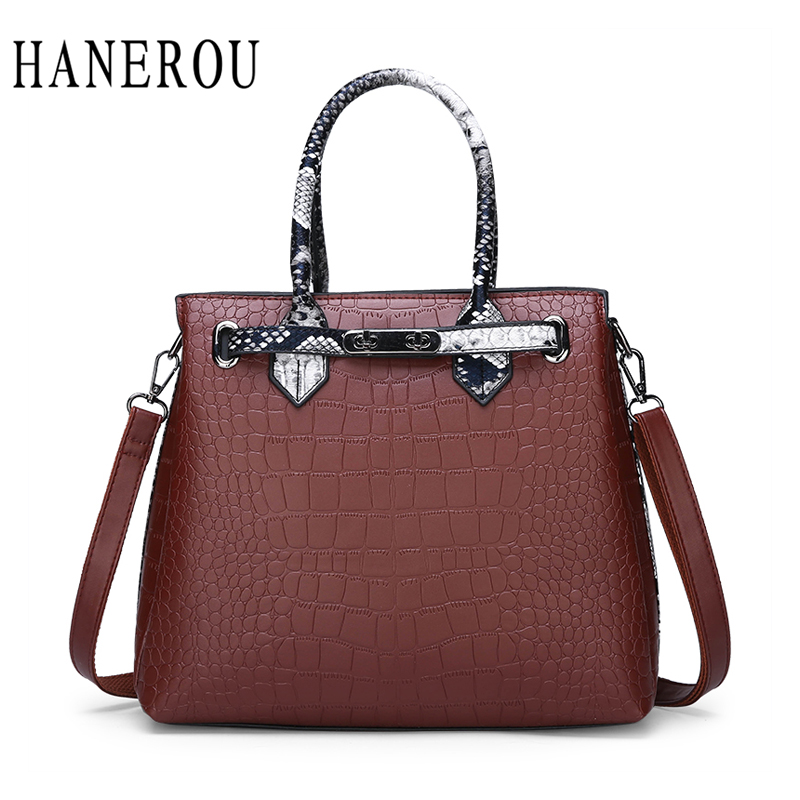 e79db36fe4 HANEROU Women Crossbody Bag Leather Handbags Luxury Handbags Female Bags  Designer Famous Brand Ladies Shoulder Bag