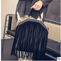 Fashion Tote Bag European and American Style Women Handbags Tassels Chain Bag PU leather Shoulder Messenger Bags Bolsas Feminina