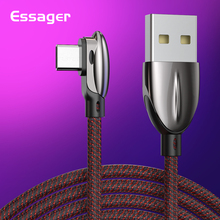 Essager USB Type C Cable 3A Fast Charging USBC Type-C Cable for Xiaomi Redmi Note 7 K20 Samsung Oneplus 7 Pro USB-C Charger Cord