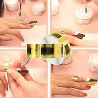 10Pcs Nail Extension Adjustable Nail Care Aluminum Guide Forms Extension Tool Finger Rest for UV Gel