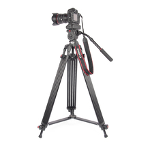 лучшая цена JieYang jy0606 jy-0606 Professional Tripod camera tripod/Video Tripod/Dslr VIDEO Tripod Fluid Head Damping for video