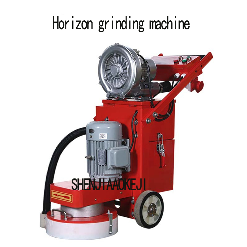 Small floor grinding machine concrete floor grinder polisher vacuuming grinding machine adjustable grinding depth 380V