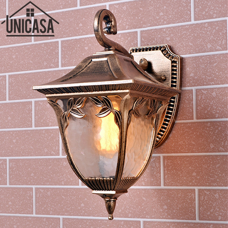 Antique Outdoor Lights Garden Pathway Modern Sconce Aluminum Vintage Country Lighting Glass Led Technology Of Wall