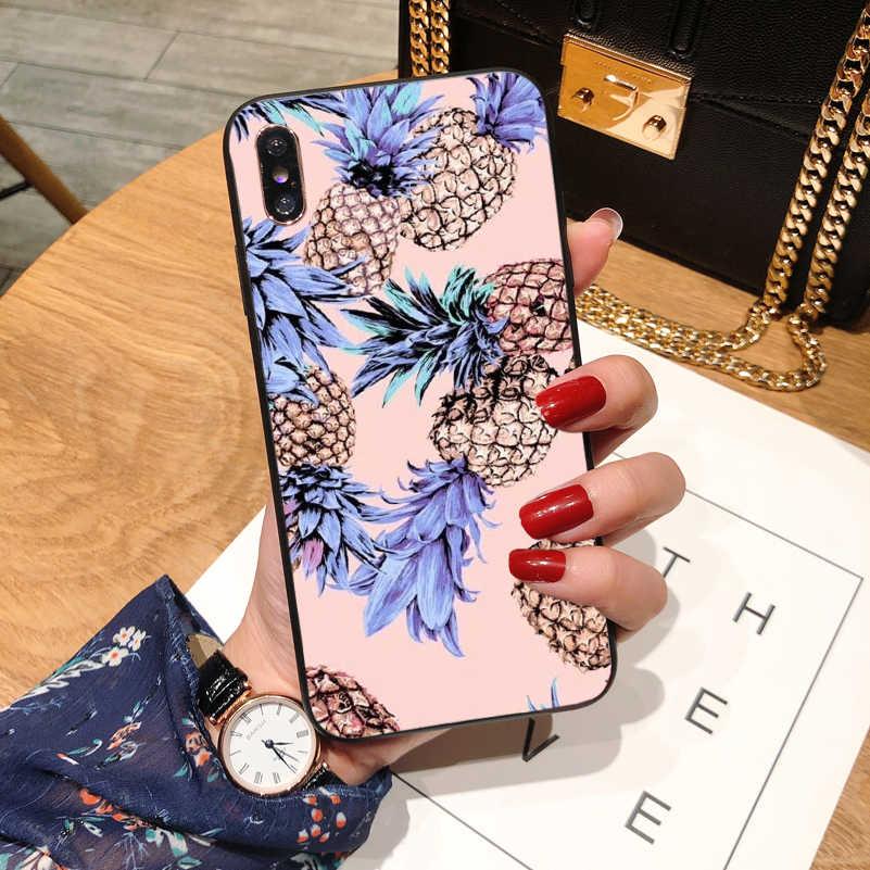 面白い針葉樹葉電話ケース iphone 6 s 6 7 8 プラス X Xs XR XS 最大シリコンバック iphone 7 プリント文字のスタイル