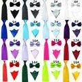 18 Colores Para Hombre de Bowtie Pajaritas y Pañuelos de Bolsillo Elástico Hombres Bow Tie + Corbata + Pañuelo Set Boda Lazos Para Hombre JCtr0019