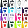 18 Cor Mens Bowtie Bowties e Praças Bolso Elástico Dos Homens Laços Dos Homens Gravata borboleta + Gravata + Lenço Definir Casamento JCtr0019