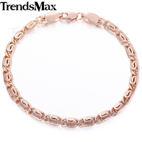 18 см 20 см женские браслет роза золото 585 мужские поло кэп модные ювелирные изделия gb395 trendsmax