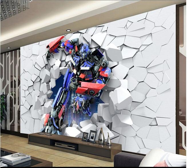 Custom children wallpaper 3 d robot large murals for