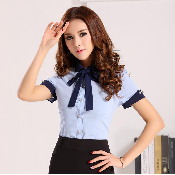 New Style 2015 Novelty Work Blouses Women Shirts Formal Ladies ...