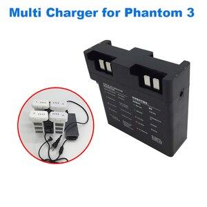 Image 2 - 4 em 1 hub de carregamento multi para dji fantasma 3 zangão vôo bateria carregador inteligente adaptador rápido paralelo carga acessório