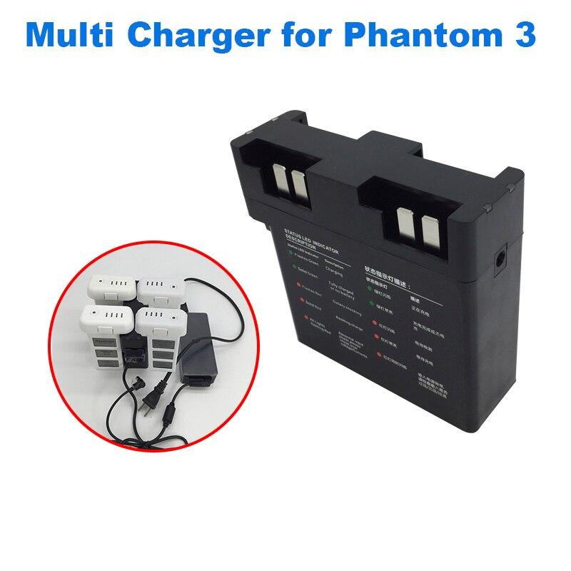 DJI Fantasma 3 Hub de Carga de Multi Carregador de Bateria Inteligente para DJI Fantasma Zangão Vôo 3 Carregador de Bateria Adaptador de Carga Paralela