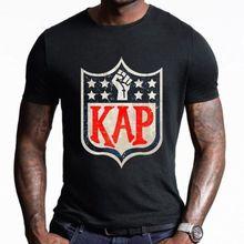 3921ee23e87 Colin Kaepernick Football Player Shirt I m With KAP Shirt Black Cotton Men  Cool Casual