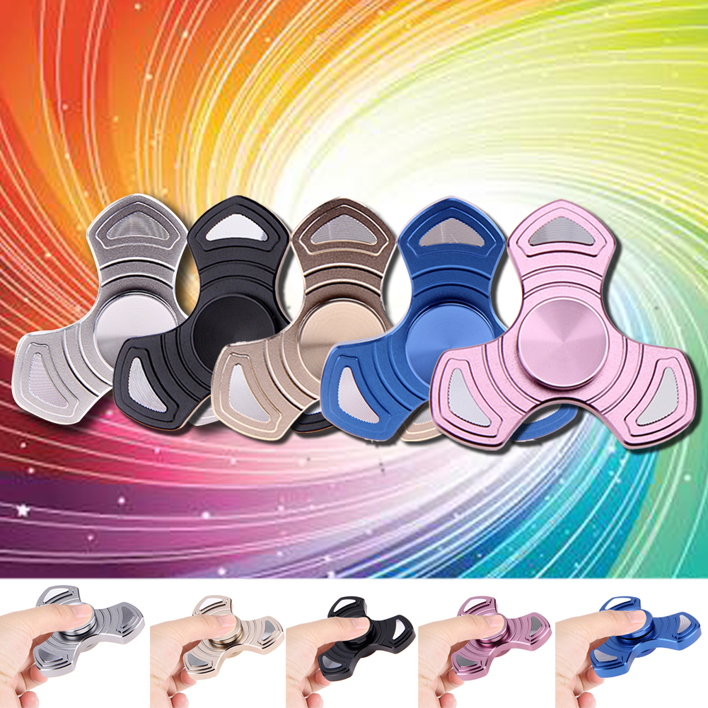 Creative Aluminum Alloy Tri-Spinner Fidget Spinner Toys Hand Spinner Anti Stress Funny Gifts Rotation Long Time 5 Colors
