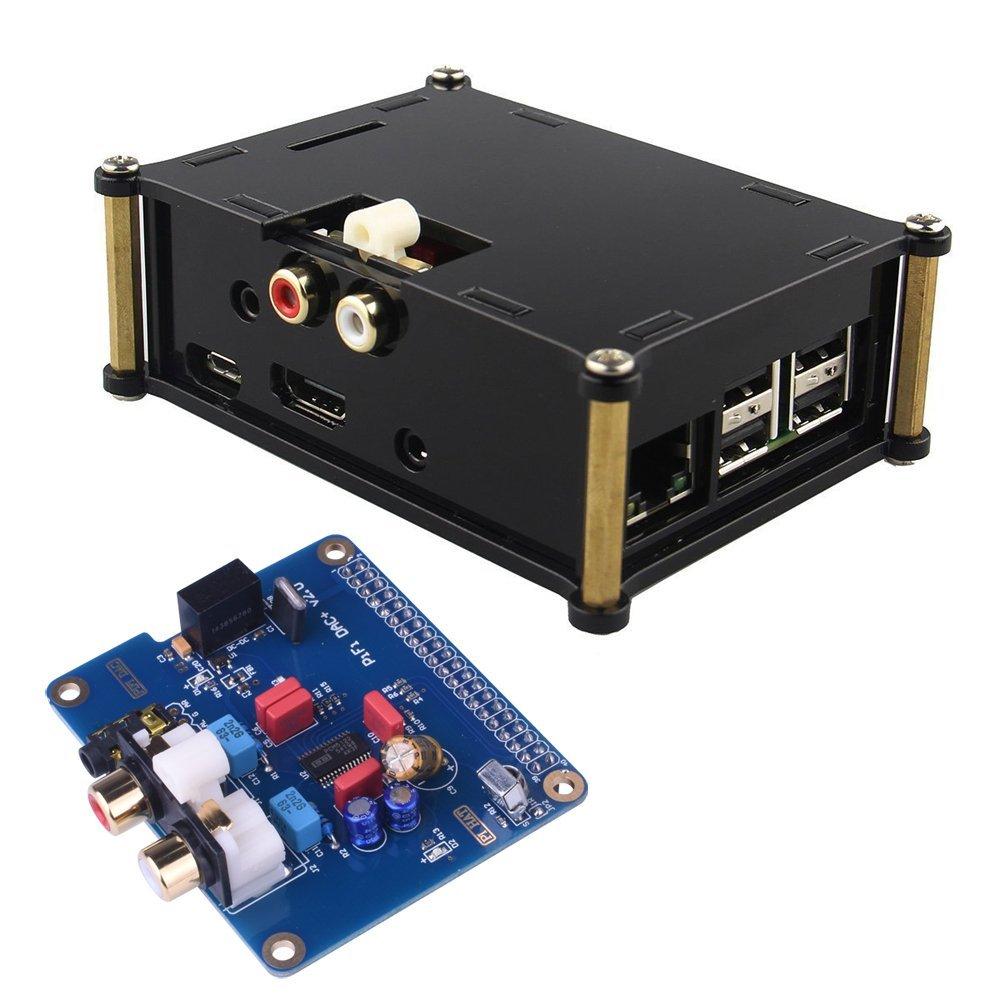 Miroad I2S Interface PiFi DIGI DAC+ HIFI Digital Audio Sound Card +Acrylic Case for Raspberry pi 3 2 Model B B+ V2.0 Board SC08C raspberry pi 3 digital sound card hifi digi expansion board i2s spdif module acrylic case for raspberry pi 2 for raspberry pi b