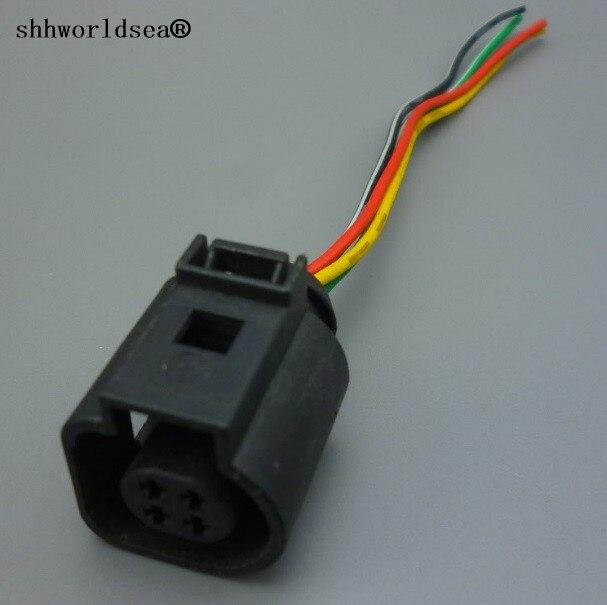 shhworldsea 1pcs 4 Pin Coolant Temperature Sensor Plug 4B0973712 4B0 973 712 Fit for Jetta Golf Passat Beetle for AUDI A4 TT bracelet