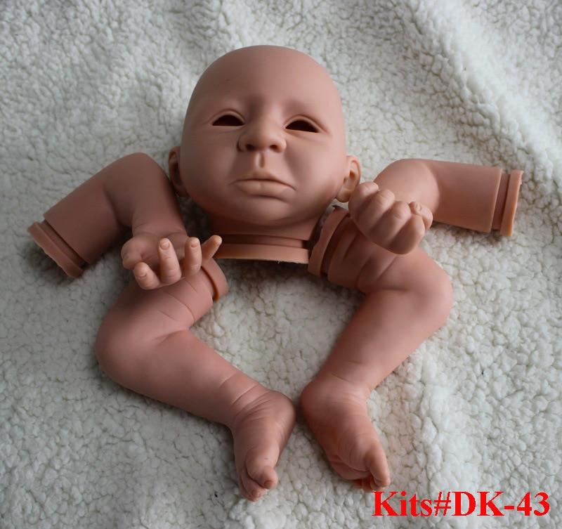 ФОТО SHINEHENG Newborn Kits for 21'' Soft Vinyl Reborn Doll Accessories Doll Toys for DIY 3/4 Limbs Doll Kits DK-43