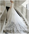 Robe De Mariage 2015 Fashionable Wedding Dresses  Lace Applique Half Sleeves Wedding Bridal Dress Cathedral  train
