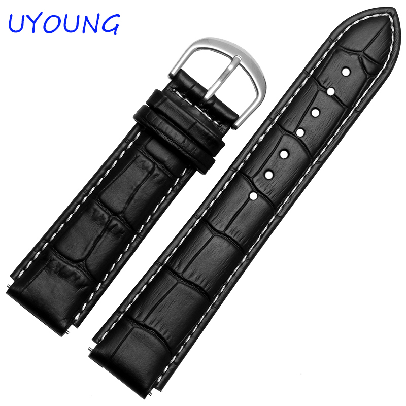 For Huawei Smart Watch Quality Genuine Leather Watchbands 22*18mm Black Brown Mens Smart Watch accessories