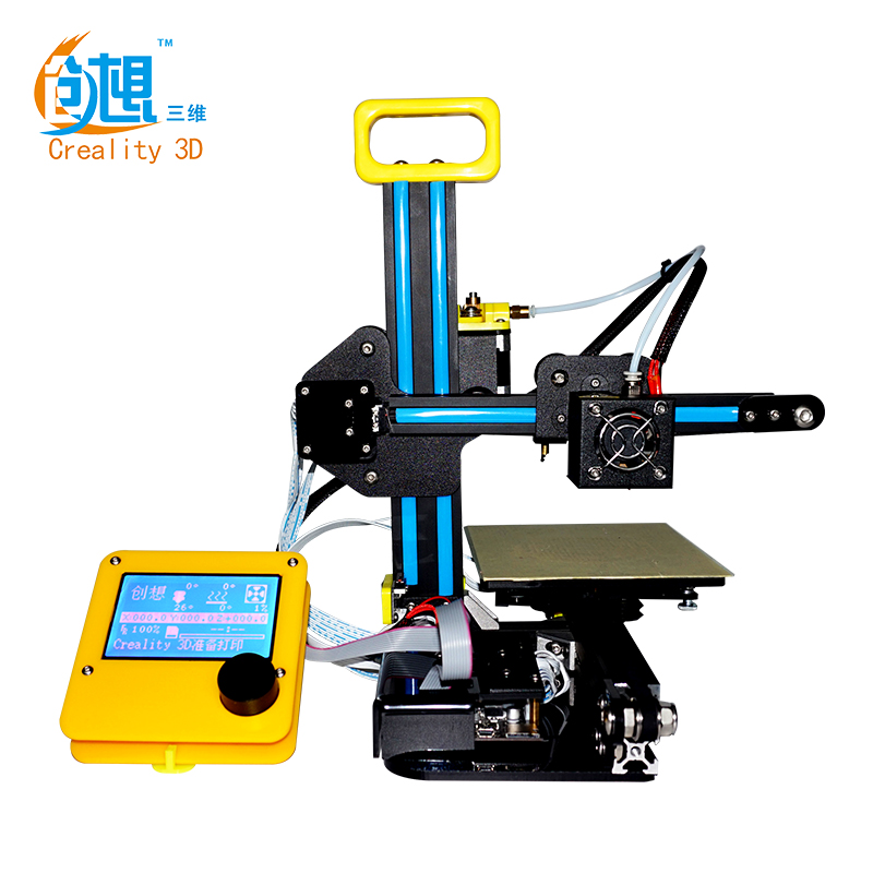 DHL Free Creality CR-7 Portable Mini 3D Printer Kit Line/Off-line Printing Self-assembly DIY 3D Printer With LCD Screen flsun 3d printer big pulley kossel 3d printer with one roll filament sd card fast shipping