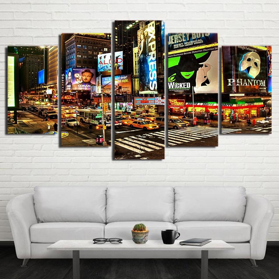̀ •́ HD impreso New York Times Square pintura en lienzo habitación ...