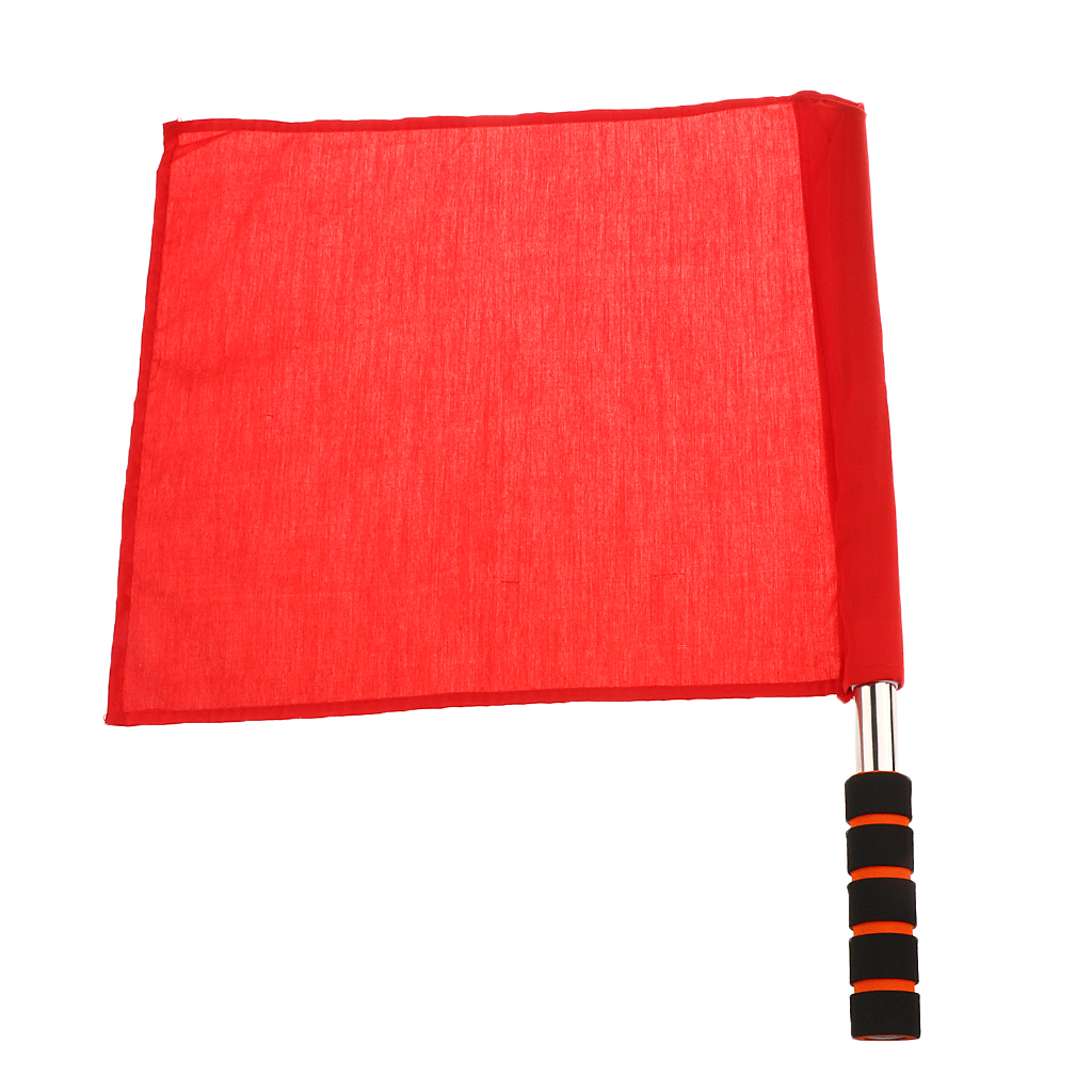 Referee Football Soccer Hocky Lineman Flag Hand Flag Competition Flag Track And Field Flag Lightweight Handles With Padded Grips
