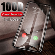 100D Full Protective Glass On For iPhone 7 8 6 6s Plus Curved Cover Screen Protector For iPhone X XR XS Max Tempered Glass Film цены