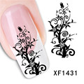 DIY Romantic Flora Nail Art Stickers Decal Beauty Nail Design Stencil Decal Fashion Flower Nail Sticker Tools Decor 12 Styles