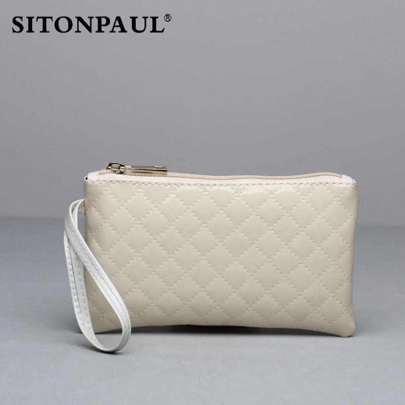 SITONPAUL 2017 New Casual High Capacity Women Wallet Lingge Lady Long Day Clutch Wallet High Quality Card Holder Purse for Women