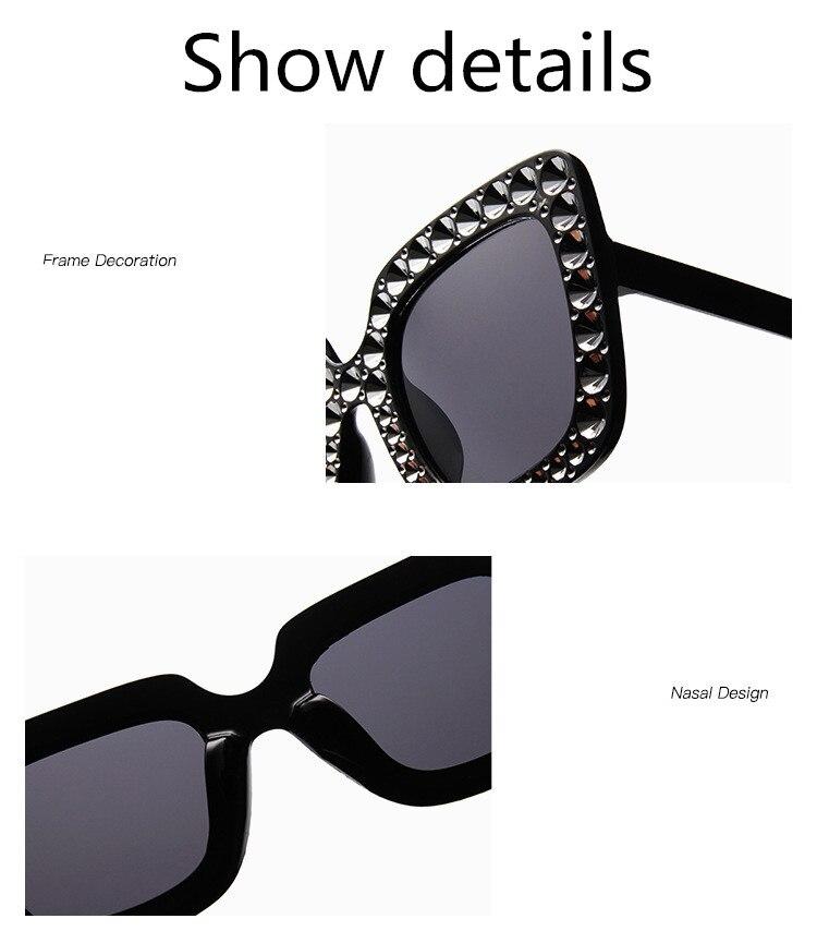ASUOP2018 International Brand Sunglasses Ladies Crystal Multicolor Mirror Retro All Star Glasses Women Black Gray Hue Sunglasses (10)