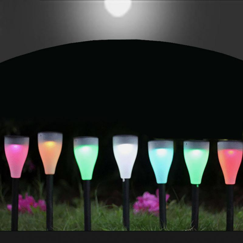 Hot sale LED Colorful Solar Lawn Lights Garden Villa Courtyard Lamps Seven Colors Of The Light Christmas Party Festival Lamp цена