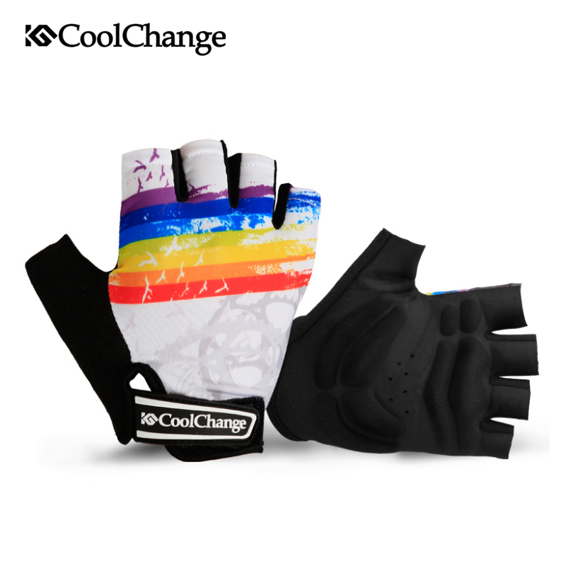 CoolChange Cycling Gloves Half Finger Mens Women 39 s Summer Bicycle Sport Gloves Breathable Nylon MTB Bike Gloves Guantes Ciclismo in Cycling Gloves from Sports amp Entertainment