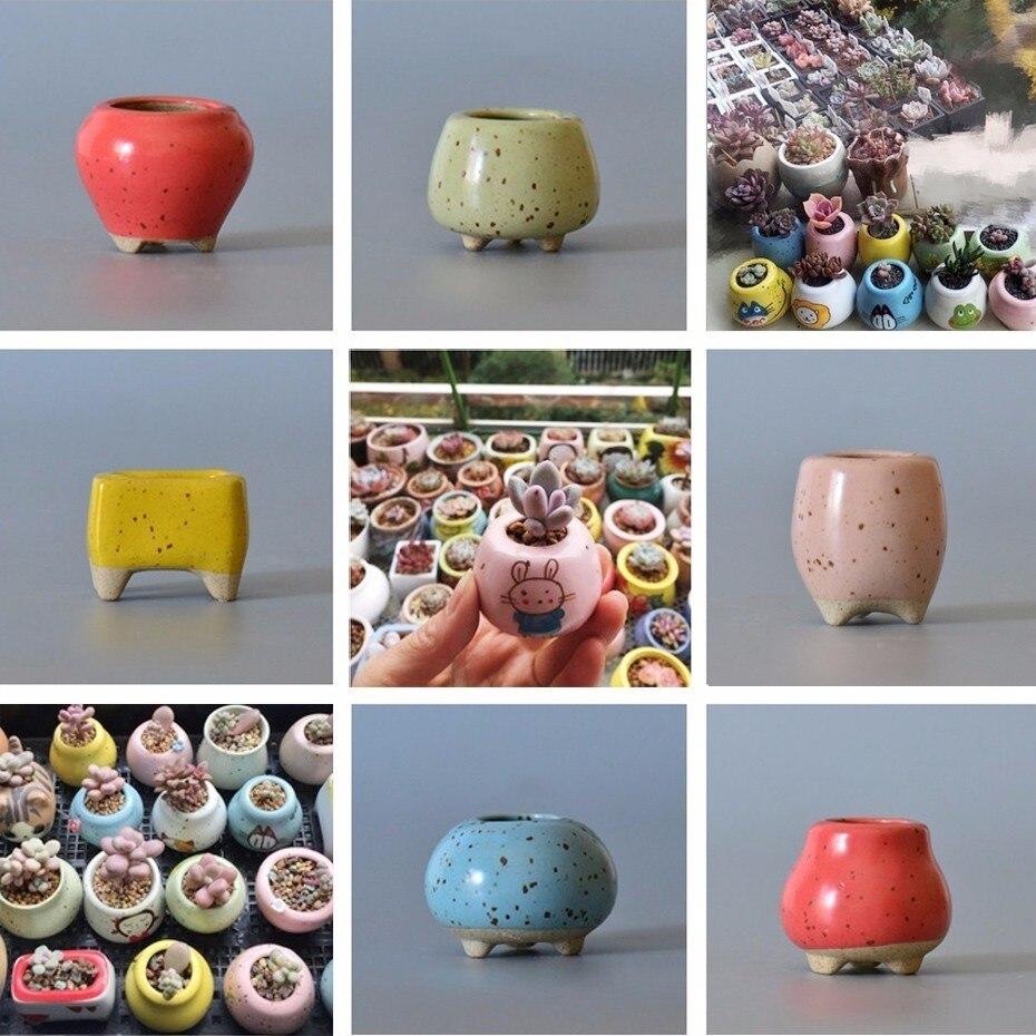 Personality Circle Mini Square Ceramic Flower Pots Succulent