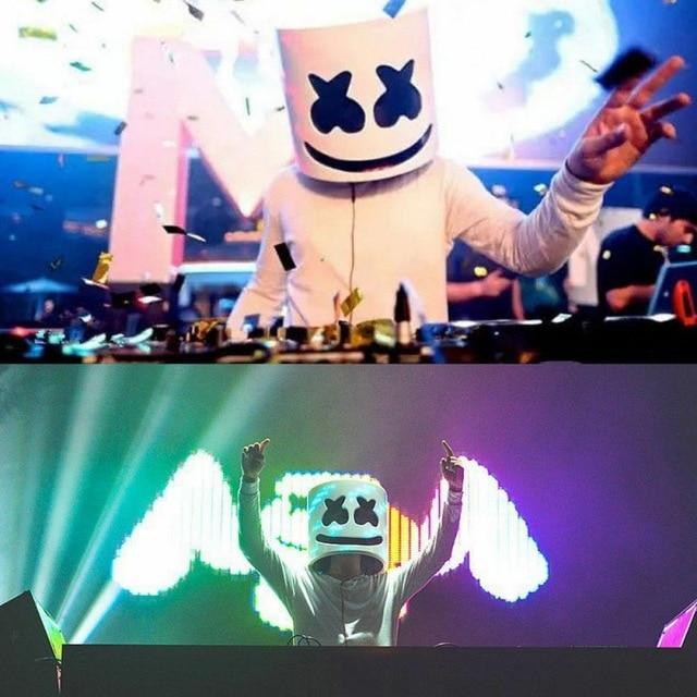 DJ LED Luminous Masks Helmet Mask Cosplay Prop DJ Halloween Party Latex Masks LED Party Bar Luminous Mask 4