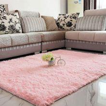 Mullido shaggy alfombra antideslizante alfombra de comedor dormitorio carpet floor mat
