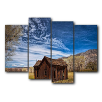 Modern Blue Sky Farmhouse Posters and Prints Wall Artwork Decor Vintage Canvas Painting for Living Room Home Wedding No Frame