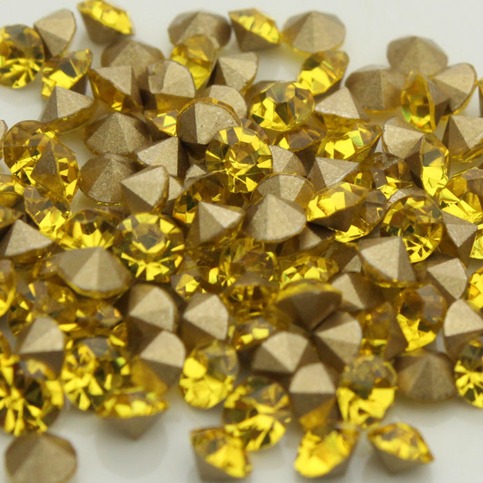 1440pcs bag citrine pointed back Glass Chatons Crystal Beads Many ... 6600b19503bf