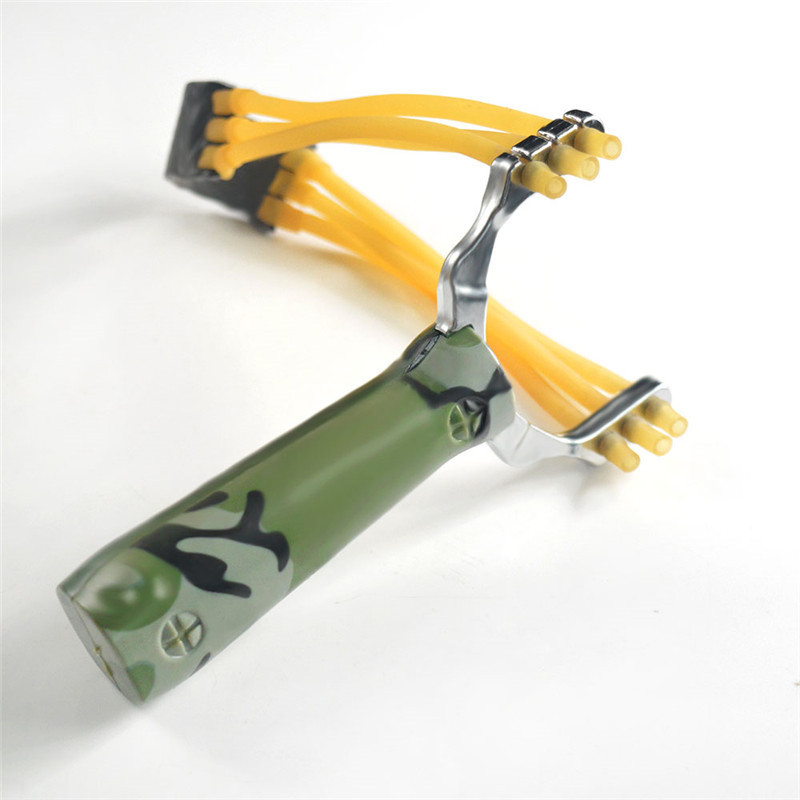 Professional Slingshot Sling shot Aluminium Alloy Slingshot Catapult Camouflage Bow Un-hurtable Outdoor Game Playing Tools 2019(China)