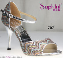 Free Shipping Suphini Woman Open Toe Sandals , Ladies Party Shoes High Heel Tango Dance Shoes