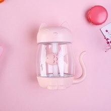 LED Cat Air 3 In 1 Humidifier, Air Fan Diffuser Purifier USB Charging