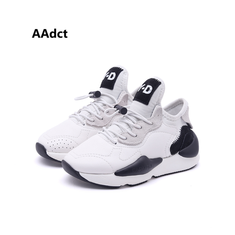 AAdct 2018 autumn running sports boys shoes sneakers new fashion kids shoes for girls Brand soft sole children casual shoes kids boys girls casual shoes genuine leather elastic soft sole hook